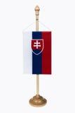 斯洛伐克共和国旗子 库存照片