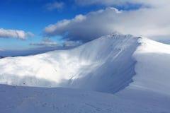 斯洛伐克山在冬天,低Tatras 免版税库存照片