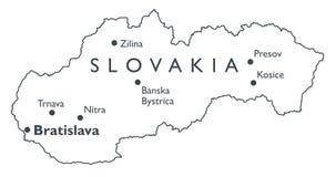 斯洛伐克的向量映射 库存图片