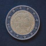 2从斯洛伐克的欧元硬币 免版税库存图片
