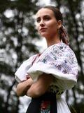 斯洛伐克的民间传说妇女 免版税库存照片