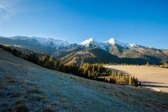斯洛伐克的Belianske Tatry山风景 库存照片