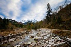 斯洛伐克的Belianske Tatry山风景 免版税图库摄影