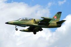 斯洛伐克空军队L-39 Albatros 库存图片