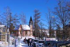 斯洛伐克, STARY SMOKOVEC - 2015年1月06日:圣母无染原罪瞻礼的教会 图库摄影