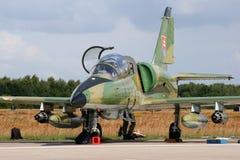 斯洛伐克L-39飞机 免版税库存照片
