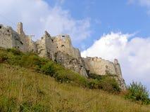 斯洛伐克Spissky城堡设防外部输入 免版税库存图片