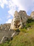 斯洛伐克Spissky城堡设防外部输入 库存图片