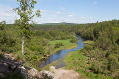 斯维尔德洛夫斯克地区 俄国 自然公园鹿小河 免版税图库摄影