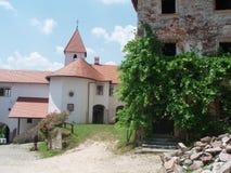 斯洛文尼亚城堡、古董的混合和恢复 免版税库存照片