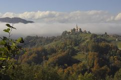 斯洛文尼亚的上面 免版税图库摄影