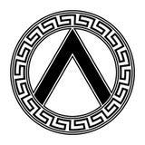 斯巴达的盾 皇族释放例证