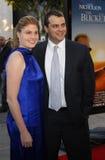 贾斯廷Zackham和妻子凯瑟琳 免版税库存照片