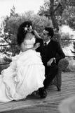 新丈夫和他的妻子 免版税库存照片