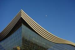 新世纪金融公司全球性中心,成都,四川,反对蓝天的中国 免版税库存图片