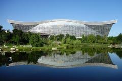 新世纪金融公司全球性中心,成都,四川,反对蓝天的中国 免版税图库摄影
