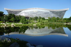 新世纪金融公司全球性中心,成都,四川,反对蓝天的中国 图库摄影