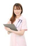 新亚裔女性护士 免版税图库摄影