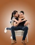 新亚洲夫妇 免版税库存照片