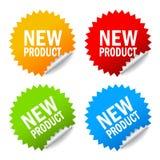 新产品贴纸 免版税库存照片