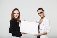 新企业二的妇女 库存照片