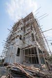 新住宅家庭建设中 免版税库存图片