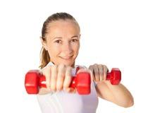 新体操运动员女孩纵向  免版税库存图片