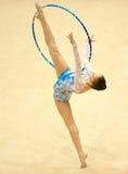 新体操运动员Irina Deleanu桔子战利品 免版税库存图片