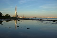 新全景和观光圣彼德堡市 免版税图库摄影