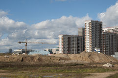 新公寓的建筑 库存照片