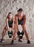 新兵训练所的美丽的妇女称呼锻炼 图库摄影