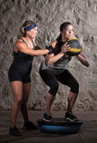 新兵训练所锻炼平衡培训 免版税库存照片