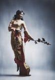 新典雅的亚裔妇女 免版税库存图片