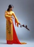 新典雅的亚裔妇女 库存照片