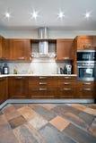 新内部的厨房 免版税库存图片
