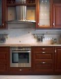 新内部的厨房 库存图片