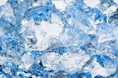 新冷的蓝色冰背景 免版税库存照片