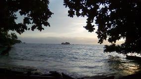 新几内亚黎明 免版税图库摄影