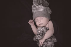 新出生休眠 库存照片