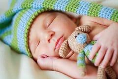 新出生可爱的婴孩 免版税库存照片