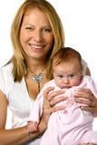 新出生她的妈妈 免版税库存照片