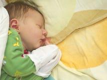 新出生婴孩休眠 库存照片