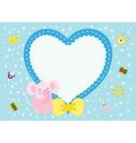 新出生小的大象的粉红色 免版税库存图片