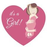 新出生小的母亲 免版税图库摄影