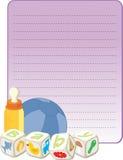 新出生男孩的看板卡 向量例证