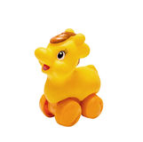 新出生的塑料明亮的玩具 免版税库存照片