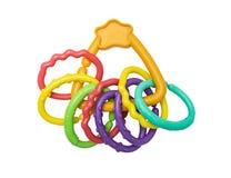 新出生的塑料明亮的玩具 免版税库存图片