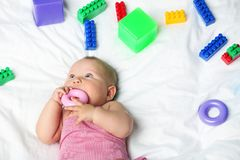 新出生的婴孩 免版税库存图片