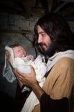 新出生的小耶稣 免版税库存照片