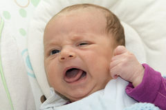 新出生的摇摆婴孩摇摆自动电子椅子 免版税库存图片